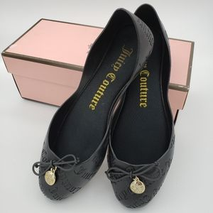 Juicy Couture Black Jelly Ballet Flats Size 7